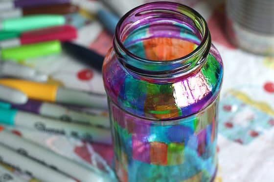 Glass Jar Tealight Holders